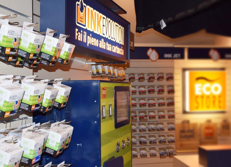 Negozio Eco Store con il sistema di ricarica Ink Evolution