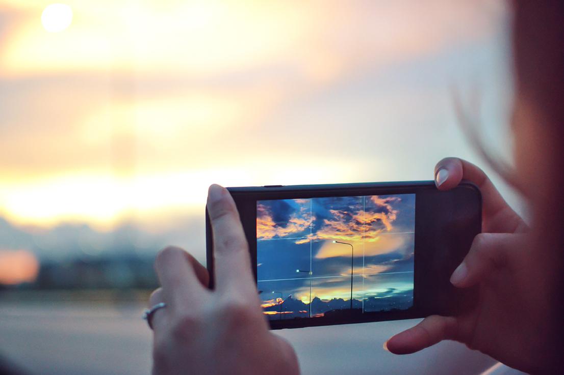Foto con griglia da smartphone