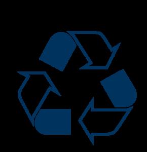 Simbolo del riciclo, re-use is the future