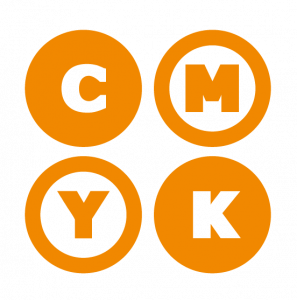 Icona CMYK, simbolo colori primari per la stampa