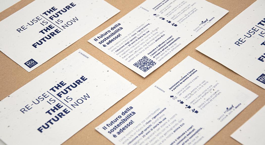 cartoline di semi di menta eco store